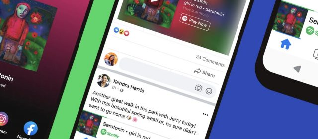 Spotify se alía con Facebook para escuchar música directamente en la red social con un minireproductor integrado