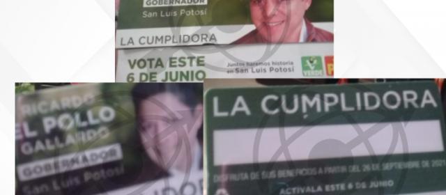 """""""La cumplidora"""": tarjeta con la que Gallardo intenta desesperadamente coaccionar el voto"""