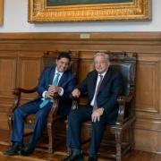 El presidente López Obrador recibe al gobernador electo de SLP