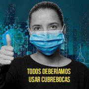 """""""Usar cubrebocas en todo momento permitiría reducir hasta 400 muertes en los próximos meses"""": Salud"""