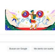 SORAYA JIMÉNEZ, PRIMER ORO OLÍMPICO FEMENIL DE MÉXICO, FUE HOMENAJEADA CON DOODLE DE GOOGLE